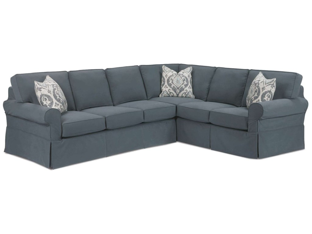 Rowe Masquerade Casual 2-Piece Sectional with Slipcover ...