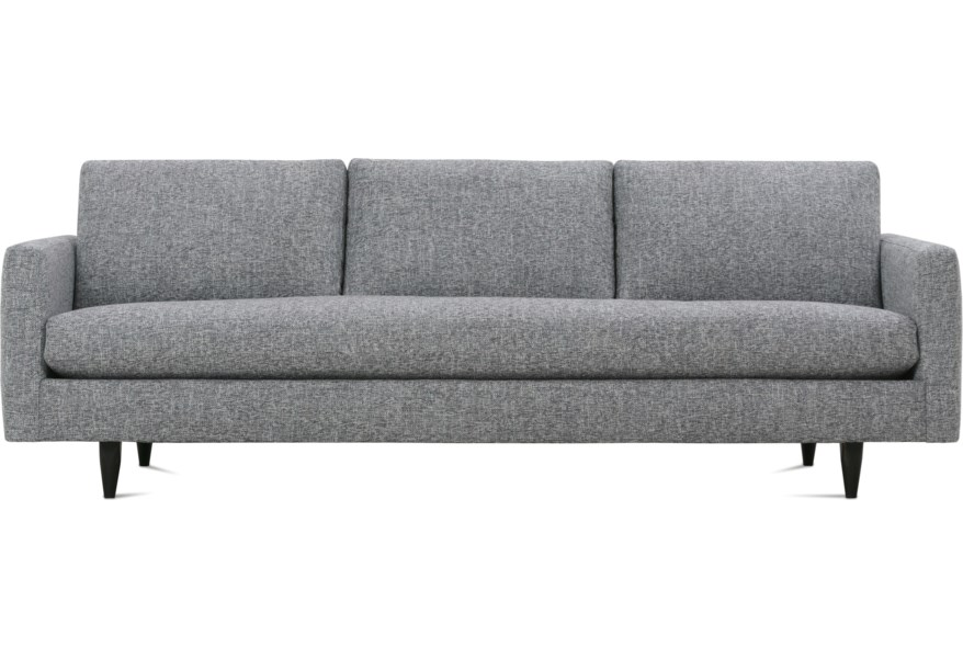 Rowe Modern Mix Contemporary Large Sofa with Tapered Feet ...