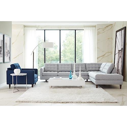 Rowe Modern Mix Stationary Living Room Group