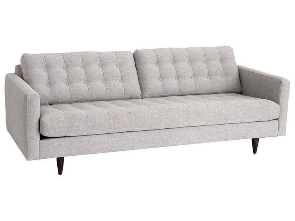 Rowe Modern Mix Contemporary Apartment Sofa with Straight Chrome ...