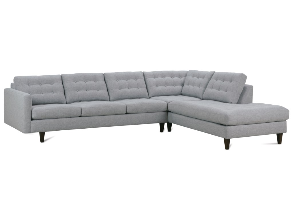 Rowe Modern Mix Contemporary Sectional Sofa with Chaise ...