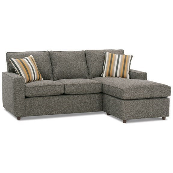 Contemporary Sofa with Reversible Chaise Ottoman