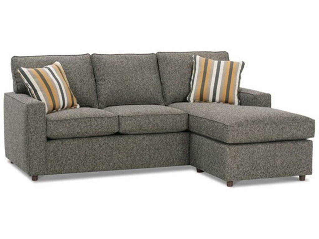 Rowe Monaco Contemporary Sofa with Reversible Chaise Ottoman ...