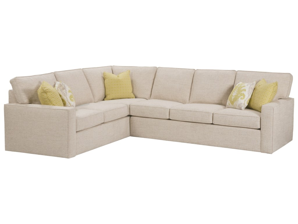 Monaco Corner Sectional Sofa by Rowe at Reeds Furniture