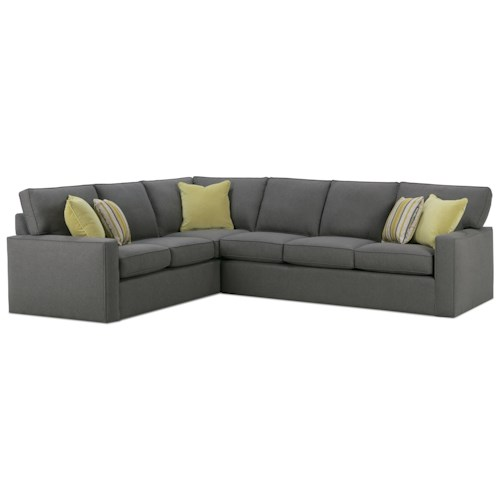 Rowe Monaco Corner Sectional Sofa Belfort Furniture Sectional Sofas
