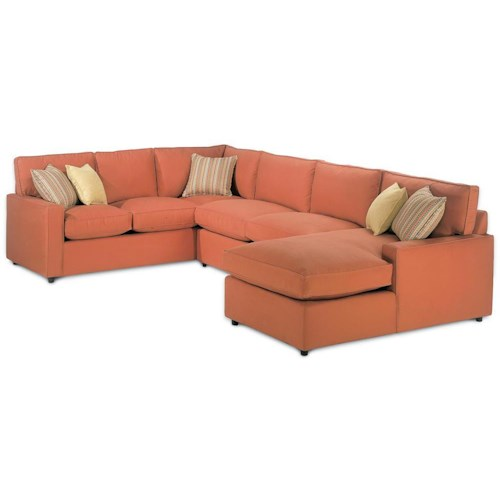 Rowe Monaco Sectional Sofa with Chaise Lounger