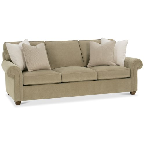 Rowe Morgan Traditional Large Sofa with Rolled Arms