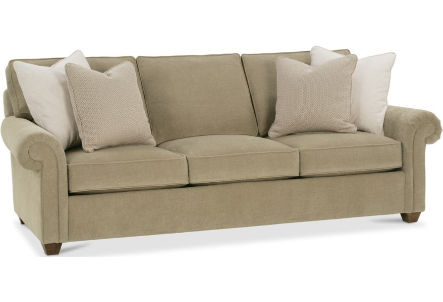Rowe Morgan Traditional Large Sofa with Rolled Arms ...