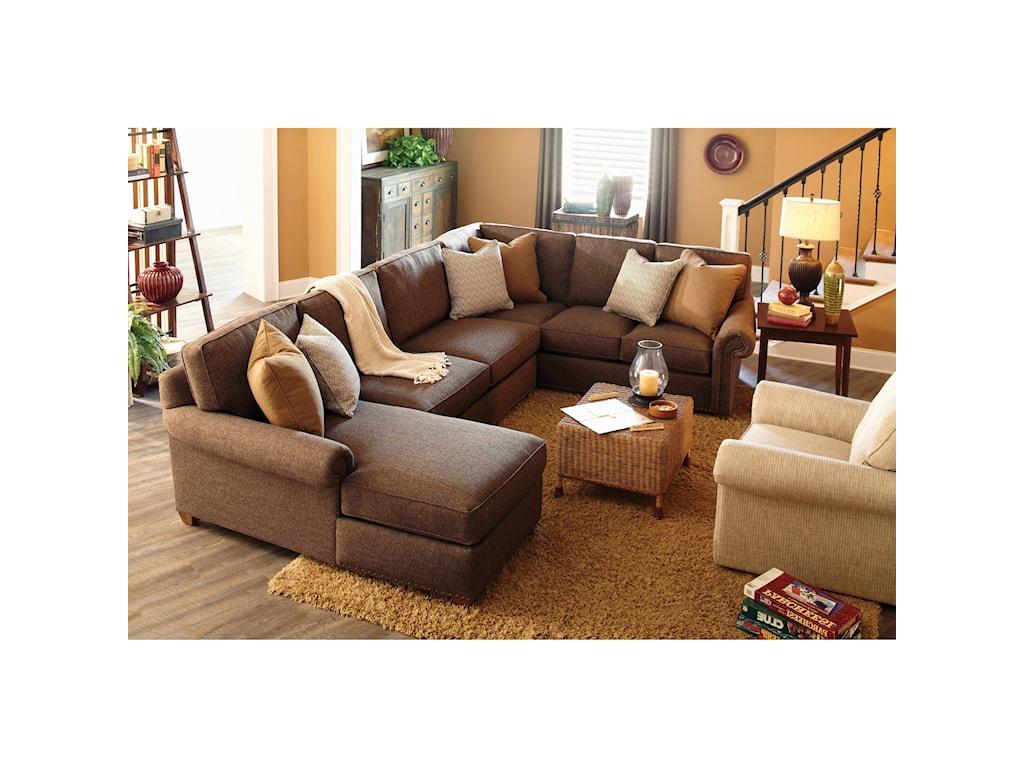 Rowe MorganTraditional Three Piece Sectional Sofa