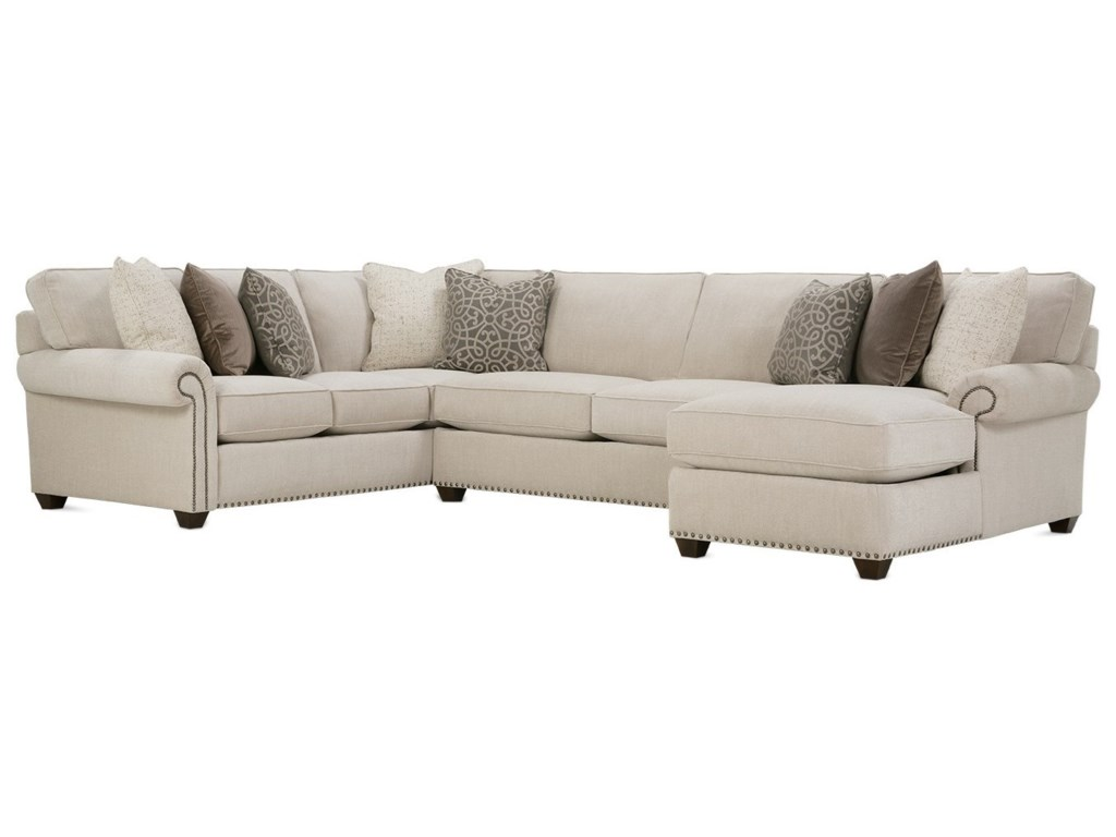 Rowe Morgan Traditional Three Piece Sectional Sofa With