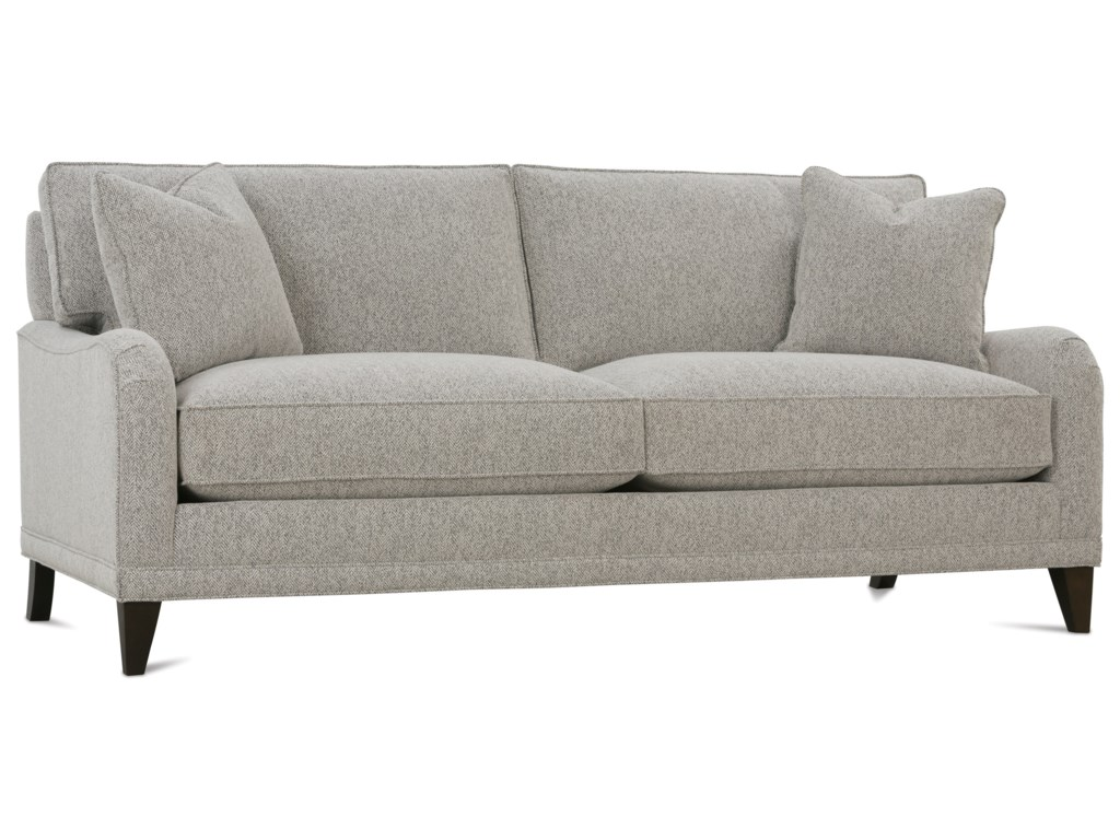 Rowe My Style II Customizable 2 Seat Sofa with English Arms, Shaped ...