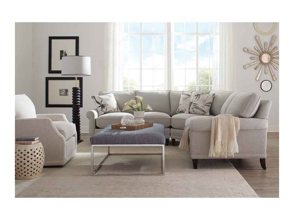 Rowe My Style II Customizable Sectional Sofa with Rolled ...