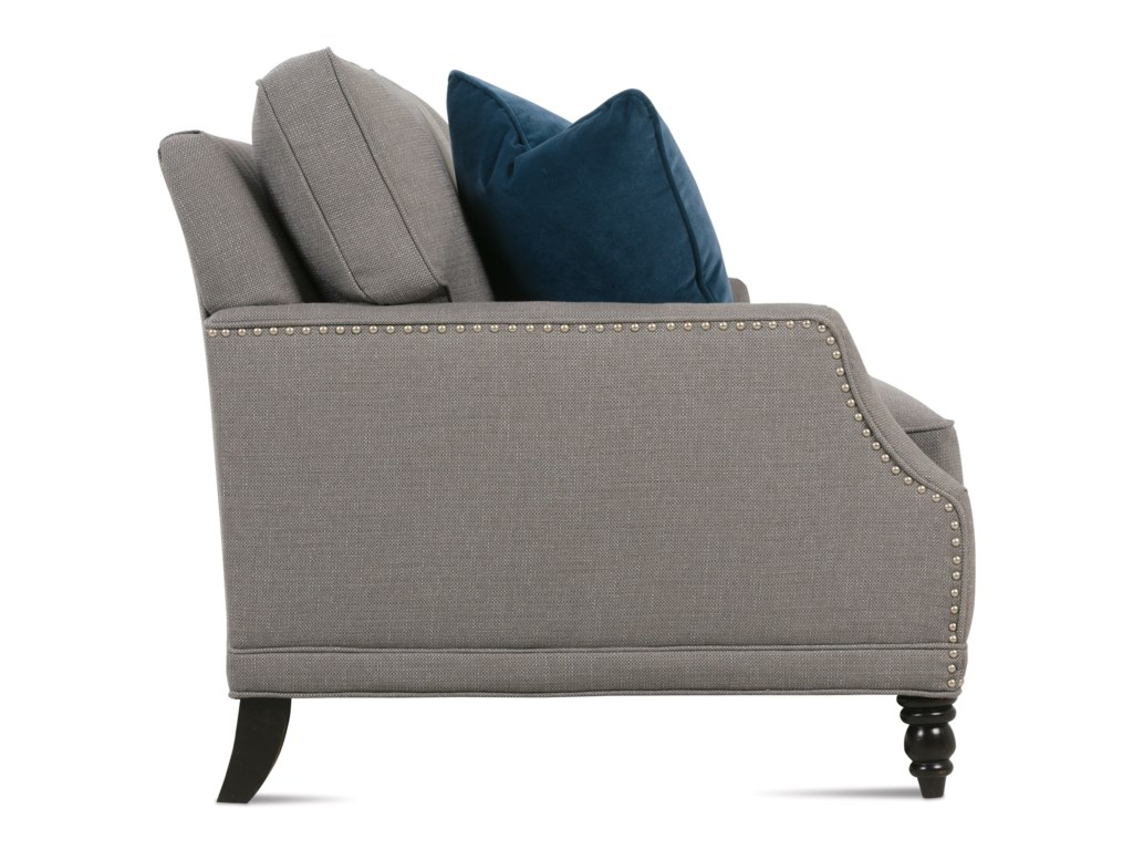Rowe Selections IICustomizable Transitional Sofa Turned Legs