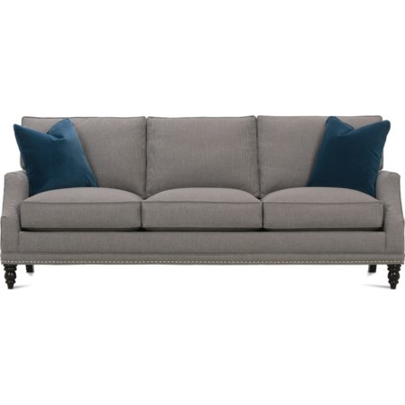 Customizable Transitional Sofa Turned Legs