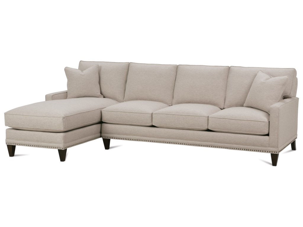 Rowe My Style Iicustomizable Sofa With Left Seated Chaise