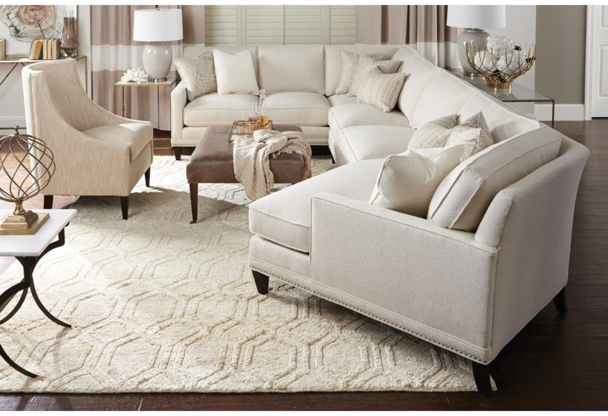Rowe My Style II Customizable 6-Seat Sectional with Track ...