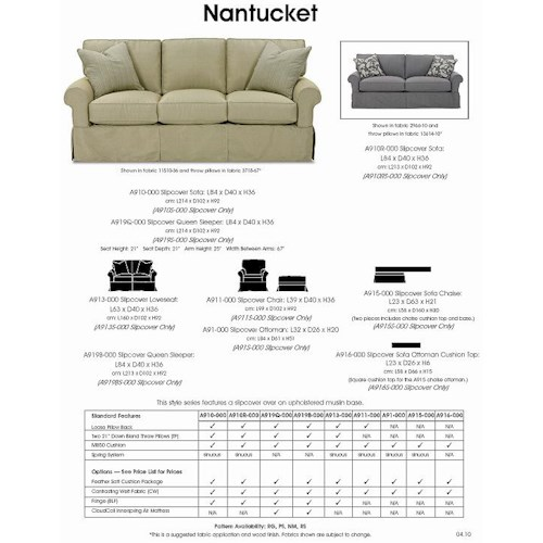 Rowe Nantucket Slipcover Sofa With Chaise Lindy S Furniture Company Sectional Sofas