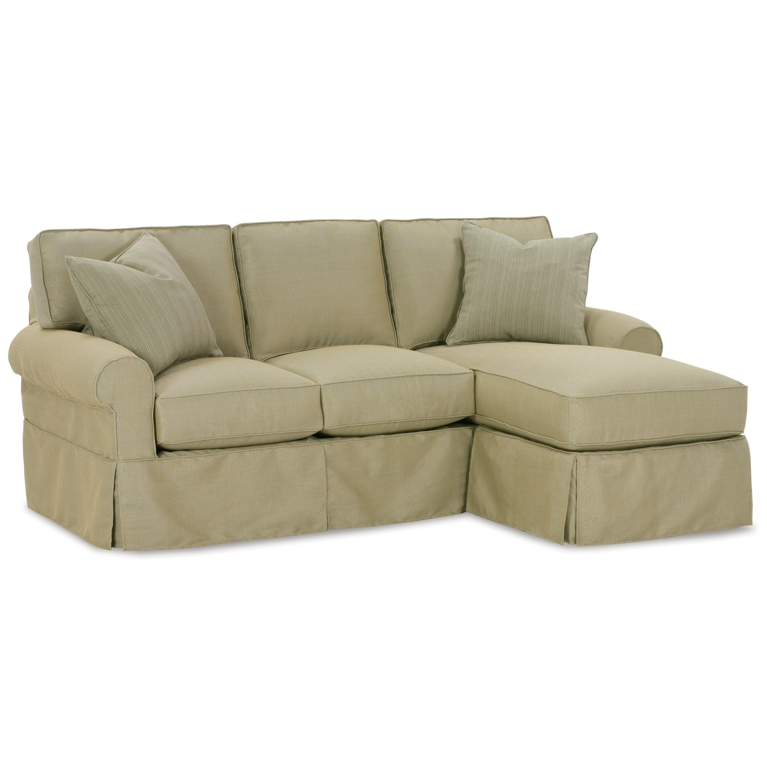 Elegant Rowe Nantucket Slipcover Sofa With Chaise With Rowe Sofa Slipcovers