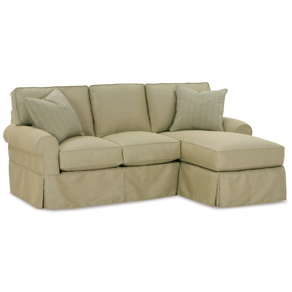 Rowe Nantucket Slipcover Sofa With Chaise - Baer's Furniture - Sectional  Sofas