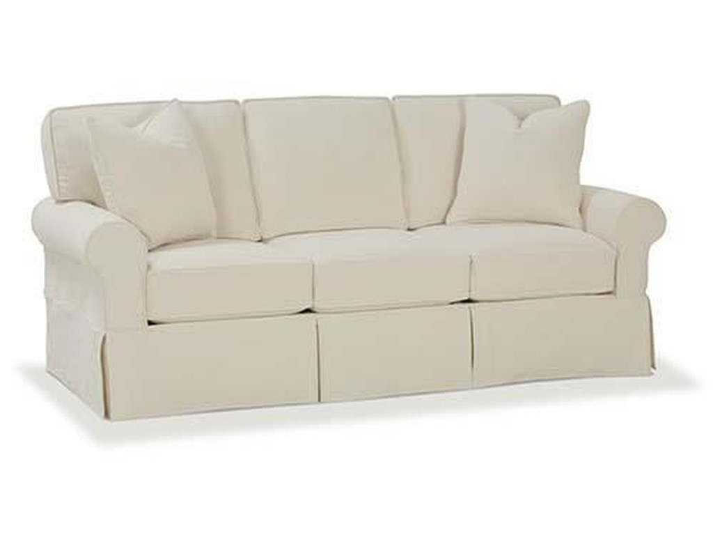 Rowe Nantucket Casual Sofa with Rolled Arms