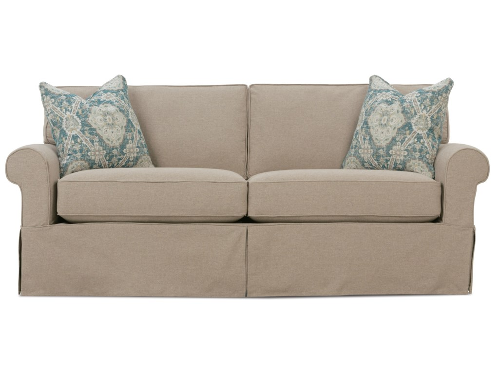 Nantucket Casual 2-Seat Slipcover Sofa by Rowe at Reeds Furniture