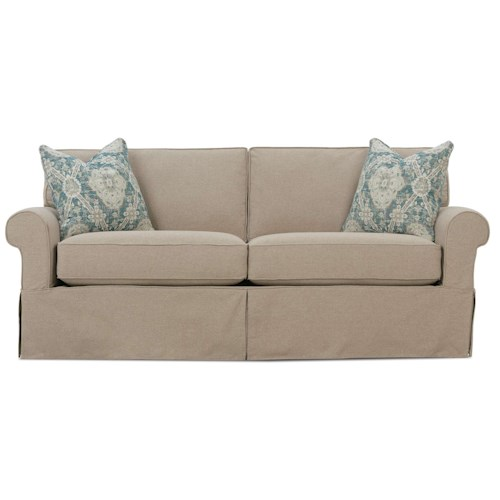 Rowe Nantucket  Two Seat Casual Sofa with Rolled Arms