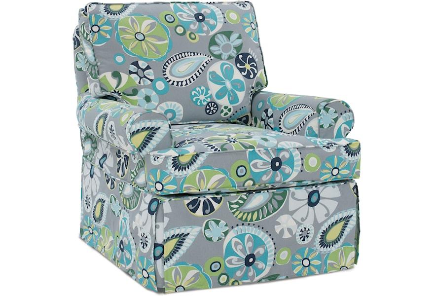 Rowe Nantucket Skirted Upholstered Chair | Steger\'s ...
