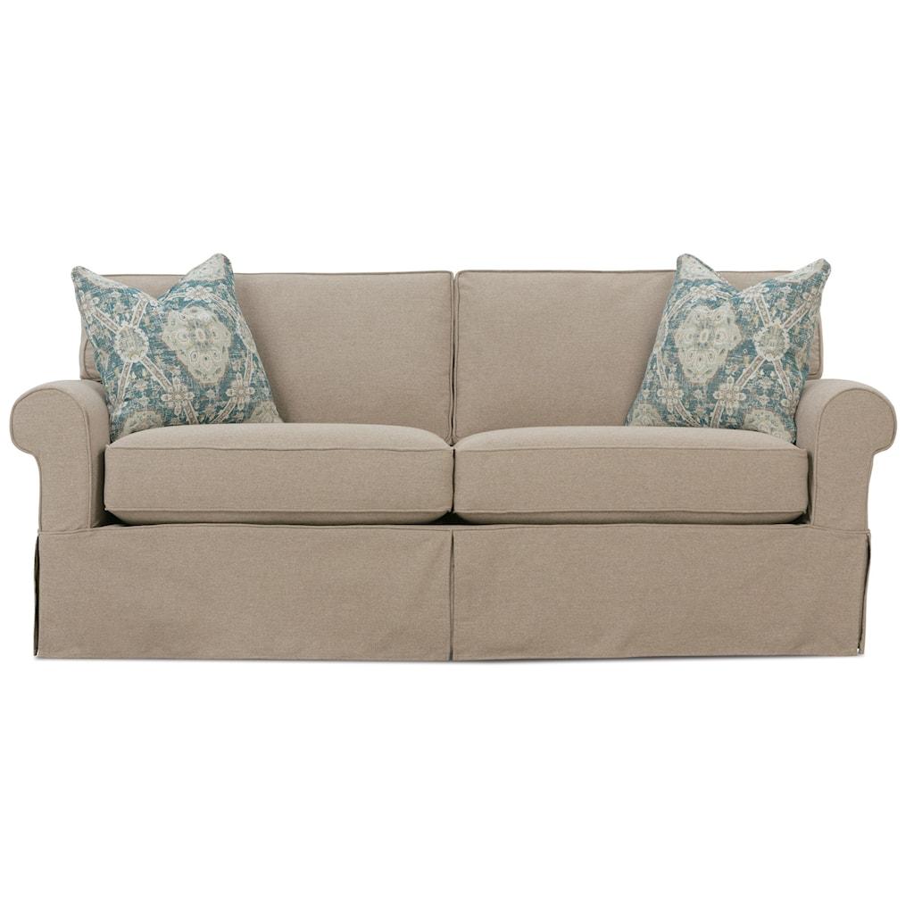 "Rowe Nantucket 84"" Two Cushion Sleeper Sofa Belfort Furniture"