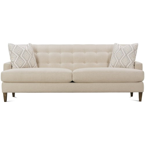 Rowe Macy Contemporary Sofa With Tufted Back