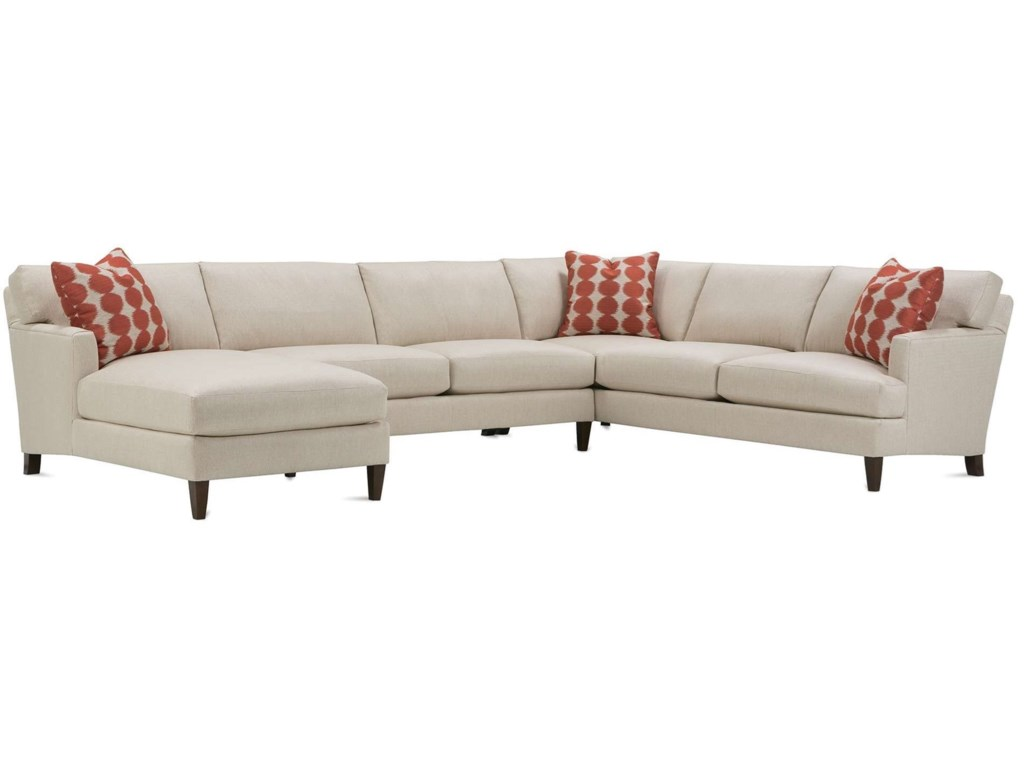Rowe Kendall Contemporary 5 Seat Sectional with Left Facing ...