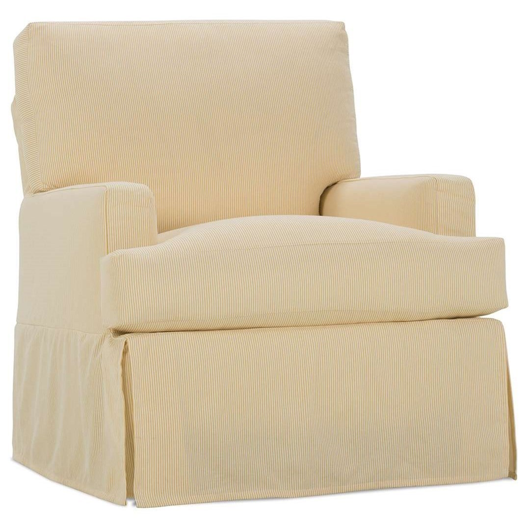 Superieur Sadie Casual Small Swivel Glider Chair With Slipcover By Rowe