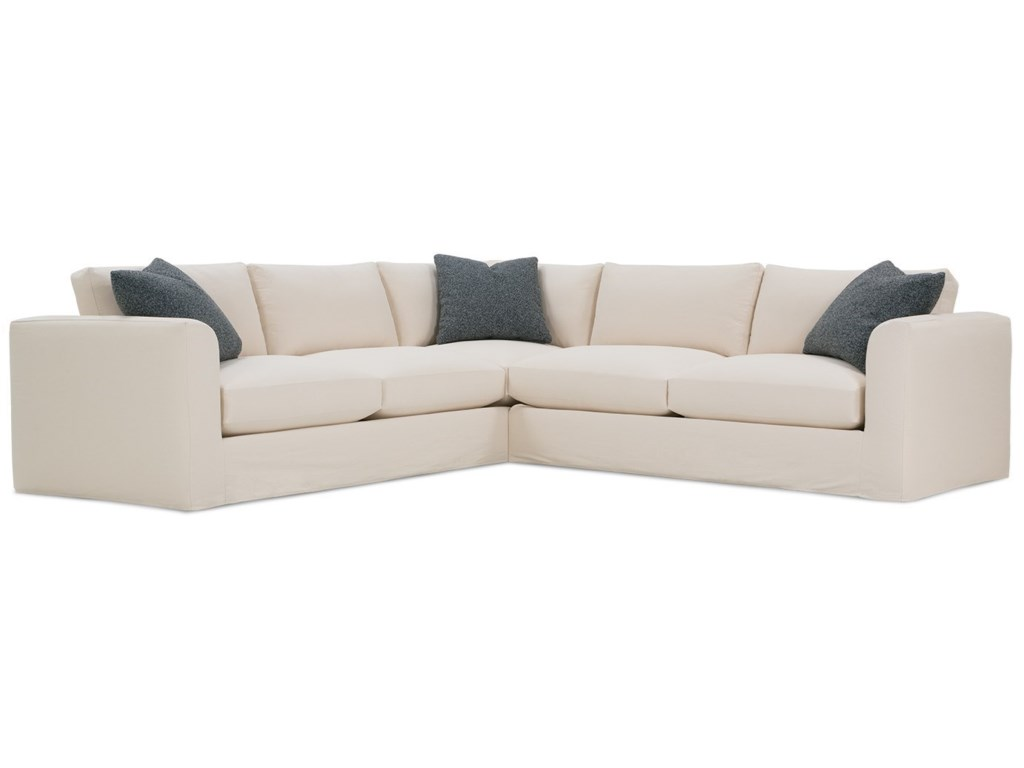 Rowe Derby Transitional Sectional Sofa with Tapered Arms and ...