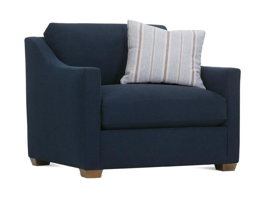 Bradford Transitional Chair With Loose Pillow Back By Rowe