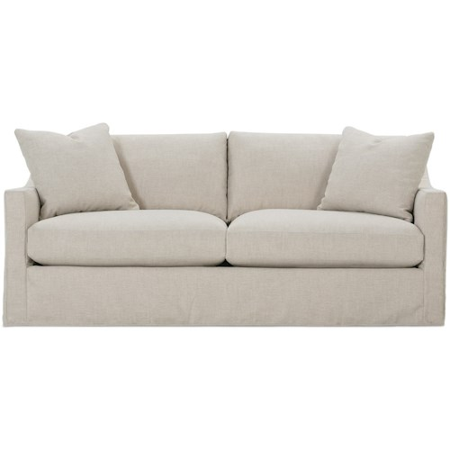 Rowe Bradford Transitional Sofa With Loose Pillow Back And Slipcover
