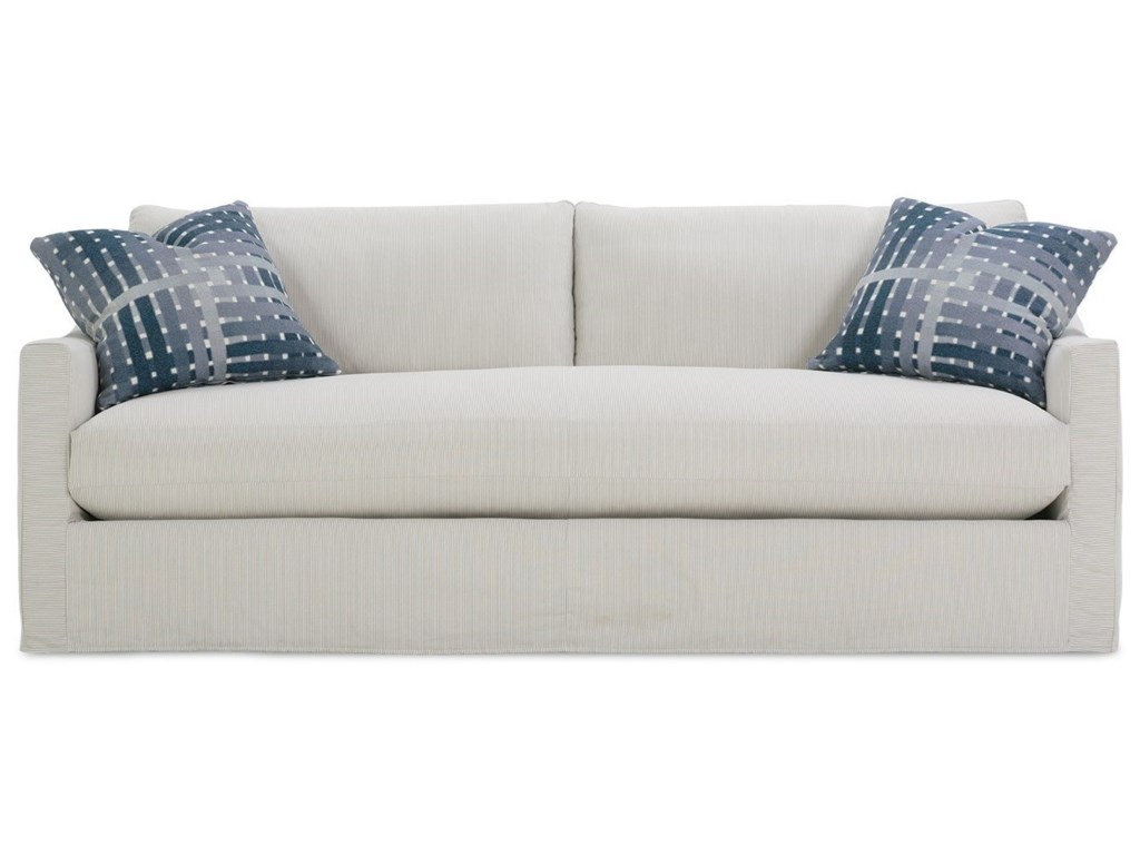 Rowe Bradford Transitional Sofa With Loose Back Pillows And