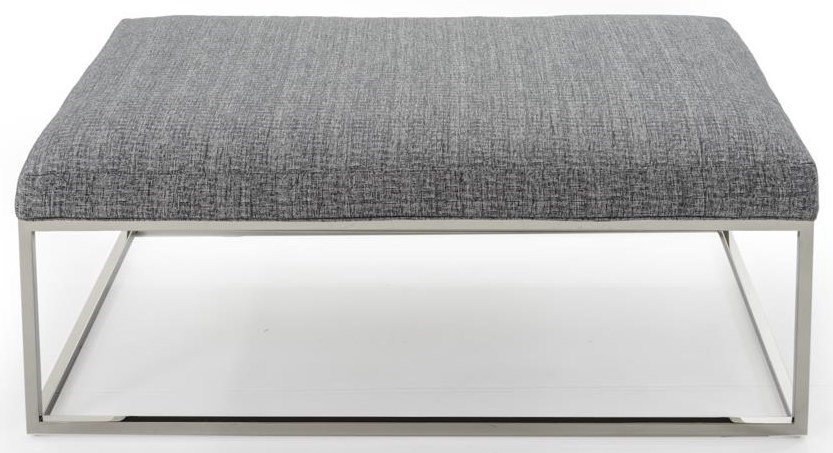 Rowe PercyCocktail Table Ottoman w/ Chrome Finish