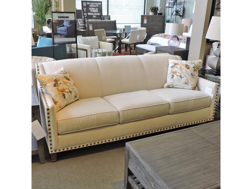 Rowe rockford sofa with brass nail head trim