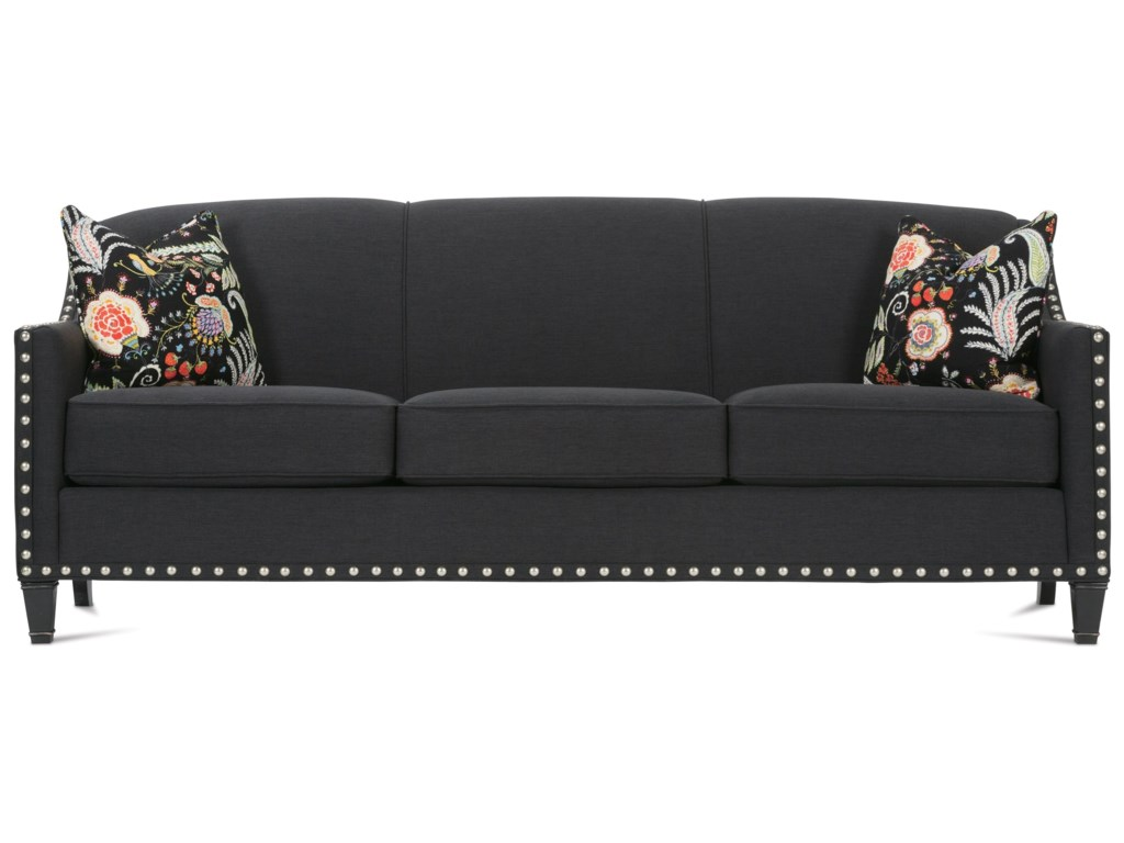 Rowe Rockford Traditional Upholstered Sofa With Nailhead
