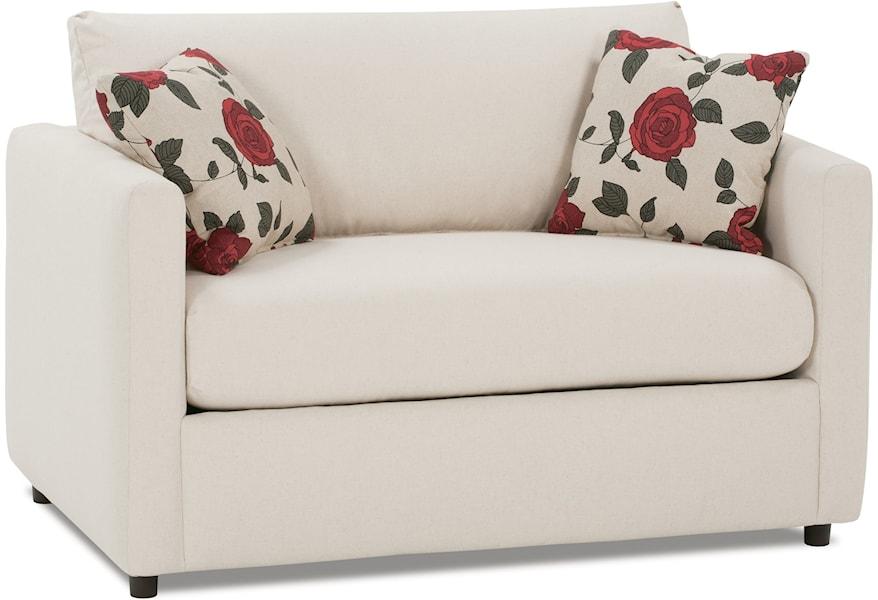 Outstanding Rowe Stockdale Contemporary Twin Sleeper Chair Stegers Cjindustries Chair Design For Home Cjindustriesco