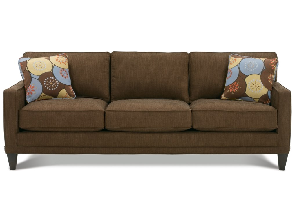 Rowe Townsend K620k 000 Customizable Fabric Sofa With Track Arms Wood Legs Hudson S Furniture Sofas