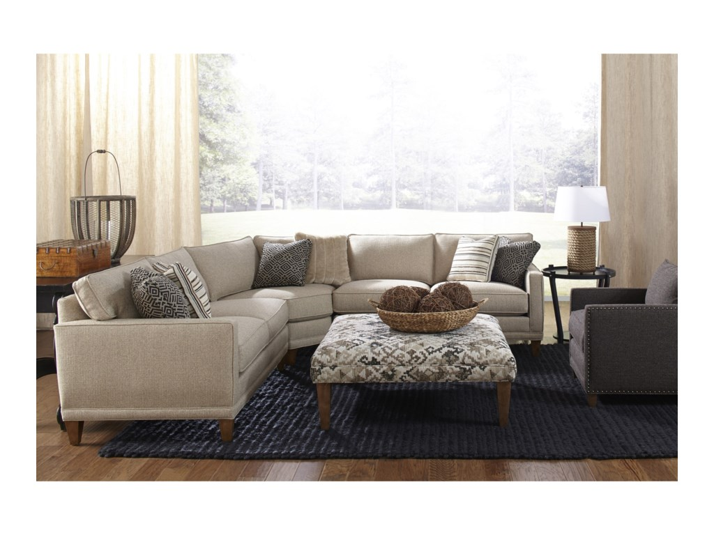 Rowe townsend casual three piece sectional sofa