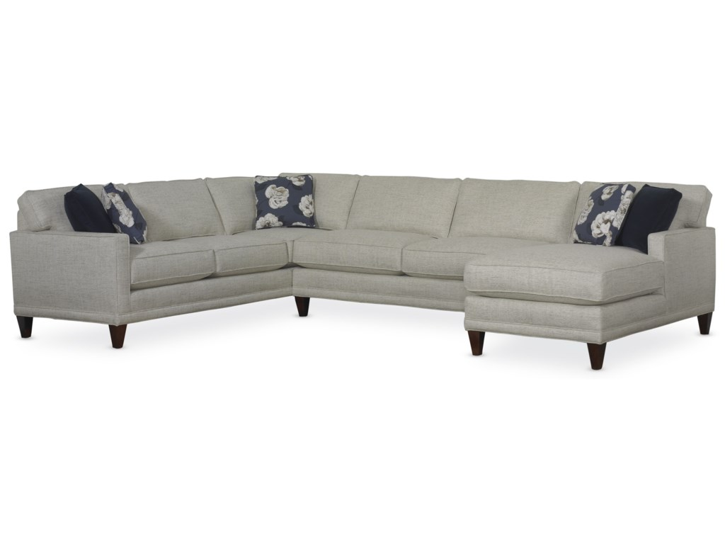 Townsend Casual Sectional Sofa Group By Rowe