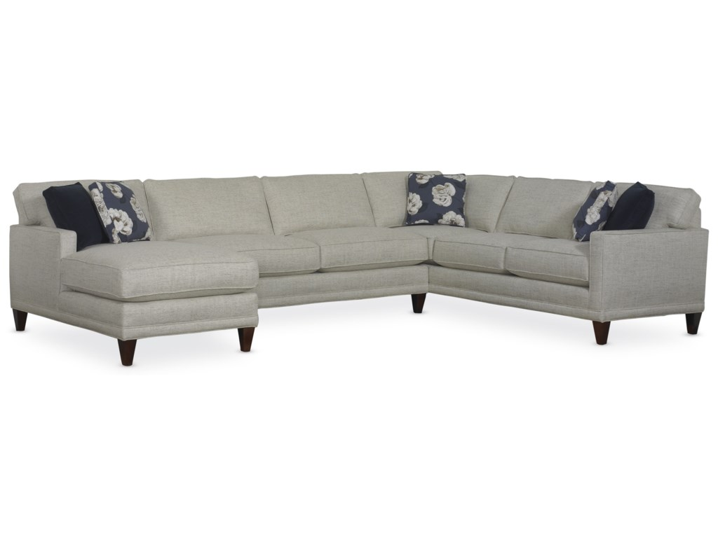 Townsend Contemporary Sofa Sectional Group By Rowe