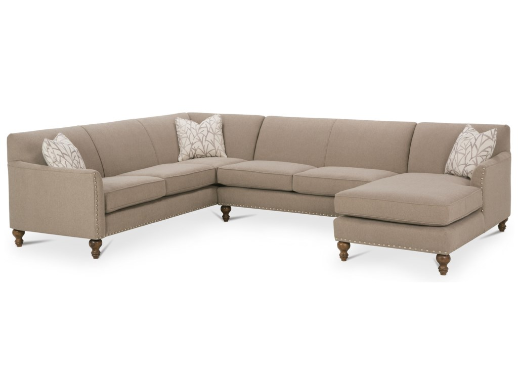 Rowe Varick-RXO<b>Custom</b> 3 Pc Sectional w/ LAF Chaise