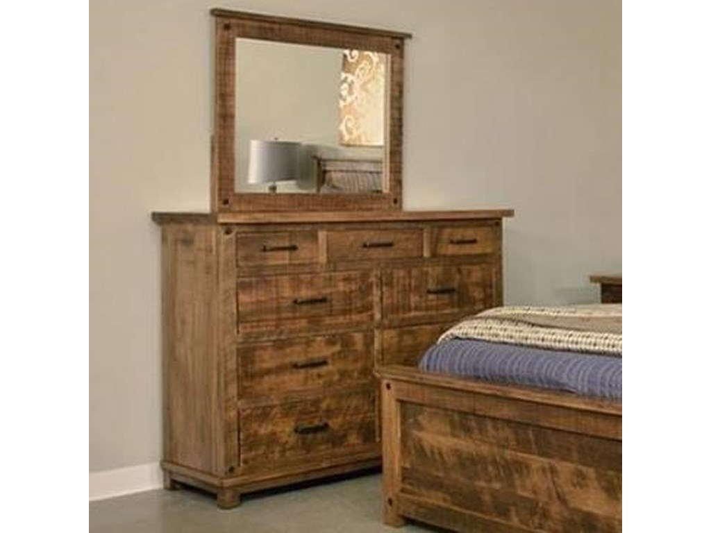 Ruff Sawn AdirondackDresser and Mirror Set