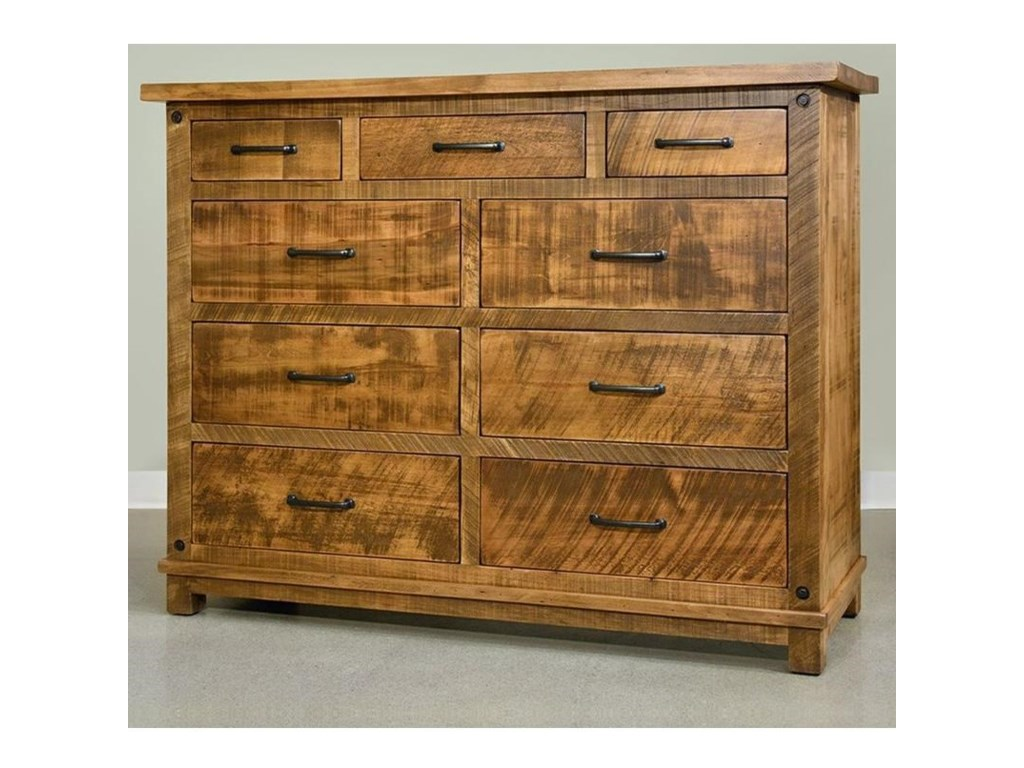 Ruff Sawn Adirondack9 Drawer Dresser