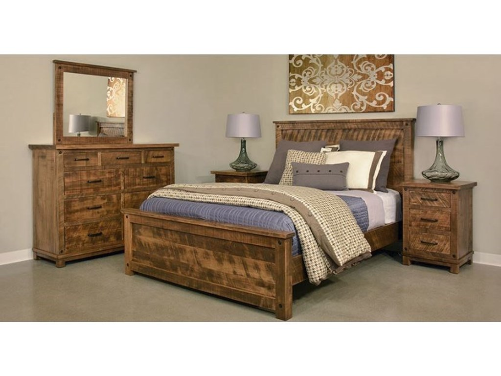 Ruff Sawn Adirondack3 Drawer Nightstand