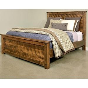 Adirondack Rustic Queen Bed Stoney Creek Furniture Panel Beds