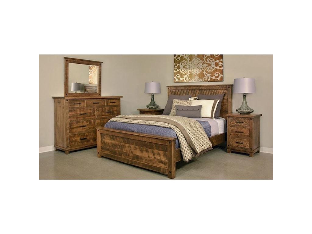 Ruff Sawn AdirondackQueen Bed