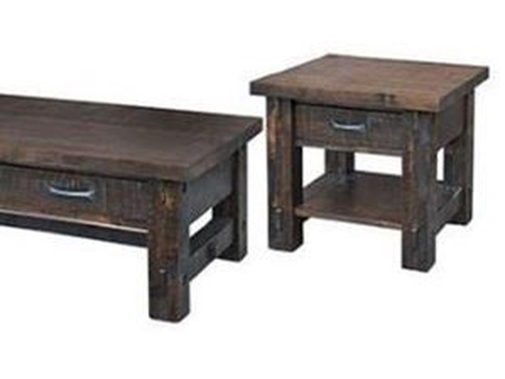 Ruff Sawn TimberEnd Table